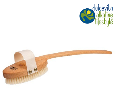 Bath brush with removable handle