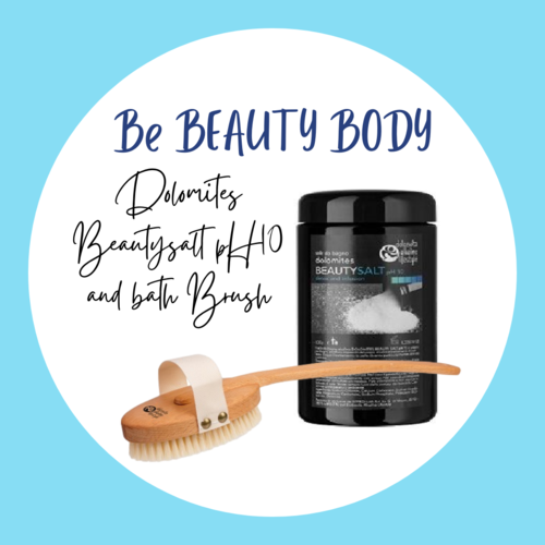BE BEAUTY BODY - Dolomites BEAUTYSALT pH10 and bath brush