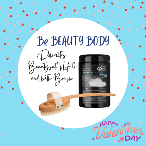 BE BEAUTY BODY - Dolomites BEAUTYSALT pH10 e Bath Ionic Brush